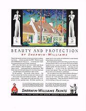 1936 BIG Vintage Sherwin Williams Paint Rockwell Kent Kent's Home Art Print Ad