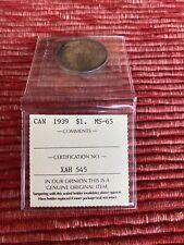 1939 Canada Silver Dollar MS-65 ICCS