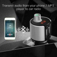 Bluetooth FM Transmitter MP3 Player Dual USB Stick Auto Freisprechanlage M5H4