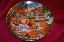 Franklin Mint/Carol Lawson LtEd Plate:Teddy Bear Picnic