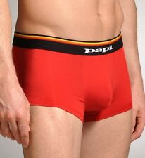 """*NEW PAPI """"Colores"""" Sport Performance Brazilian Trunks Low Rise Underwear -Red L"""