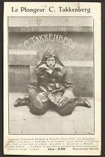 "CARTE VISITE "" TAKKENBERG PLONGEUR ITINERANT "" AMSTERDAM"