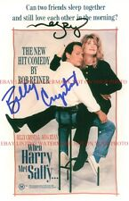 WHEN HARRY MET SALLY SIGNED AUTOGRAPHED 8x10 RP PHOTO MEG RYAN AND BILLY CRYSTAL