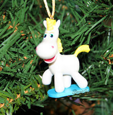 NEW Disney TOY STORY BUTTERCUP UNICORN HORSE MANE HEART Christmas Ornament PVC