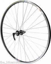 700c Black Rear Wheel Cassette type 135mm Hybrid Bike Quick Release fits Shimano