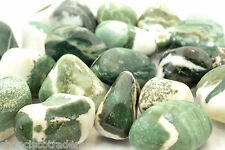 *ONE* Green Sardonyx AAA 15-20mm QTY1 Tumbled Stone Healing Crystal Reiki Family
