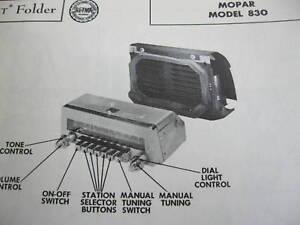 1954 CHRYSLER MOPAR 830 RADIO PHOTOFACT
