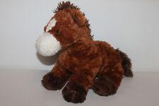 Teddy Hermann Pferd Pony braun Stofftier Kuscheltier Schmusetier 32cm TOP RAR