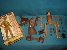 VINTAGE TOY MARX JOHNNY WEST & GEAR BROKEN BODY WITH BOX #2062 TOYS
