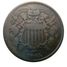 Two cent piece 1864 small motto