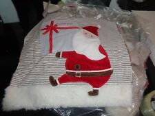 Pottery Barn First Christmas Santa delivery Pillow cover mono Camden New