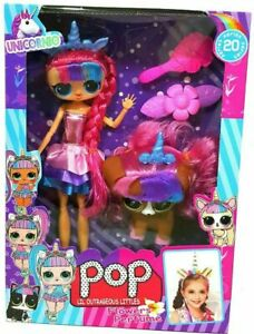 New Outrageous Littles Unicorn Pop Dolls Lil Sisters Pets Toy Girls Xmas Gift