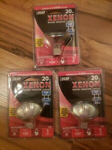 3-Feit Electric 20 Watt BAB G8 120-Volt Xenon Halogen Reflector Flood Light Bulb