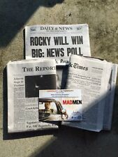 Mad Men Prop - Betty Draper's Last Scene Newspapers