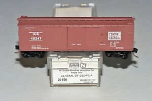 N Scale Micro-Trains MTL 39150 CG 40247 Central Of Georgia 40' Wood Box Car