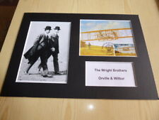 The Wright Brothers Orville & Wilbur mounted photographs & original maxi card