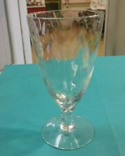 "Fostoria Shell Pearl Iridescent Loop Optic Juice Glass 4 7/8"""