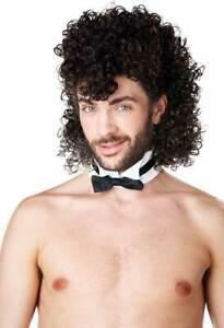 California Costume Curly Mullet Styled Brown Hair Wig Adult Men Halloween 70772