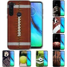 TPU Phone Case for Motorola G Stylus,G7 Play,Power,Plus,BALL Sport Pattern Print