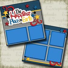 Happiest Place on Earth - Disney - Premade Scrapbook Pages - EZ Layout 2961