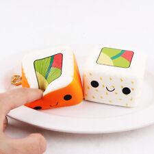 Squishy Sushi  Kawaii Morbido Cellulare Cinghie Pane Portachiavi toy Giocattolo