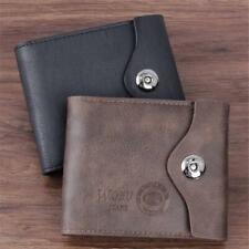 Men's Bifold Leather ID Card Holder Handbag Purse Checkbook Zip Pocket Wallet LR