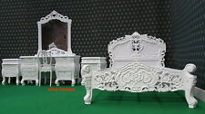 UK STOCK 4' UK Small Double size White French designer Rococo Bed TOP QUALITY