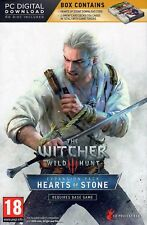 The Witcher 3 III Wild Hunt Hearts of Stone Pack English UK Version PC NEW
