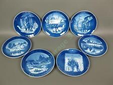 7 1994-2000 Royal Copenhagen Denmark Blue Christmas Plate Set 1997 1998 1999 Nr
