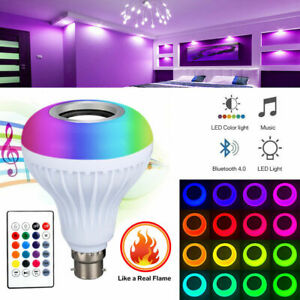 RGB- B22 ,B27 Wireless Remote Control  Bluetooth Music LED Light Bulb Speaker