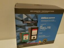 Office Depot HP 74XL/75 Replacement Combo Pack NEW un-opened Inkjet Cartridge