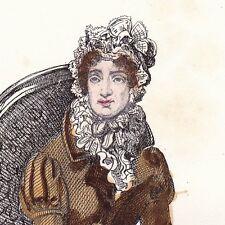Portrait XIXe Stéphanie Félicité du Crest de Saint-Aubin comtesse de Genlis 1839