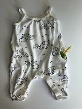 3m Elephant Romper Pockets Infant Baby Girl Boy Bodysuit Jumpsuit Outfit Clothes