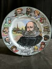 "Vintage Royal Doulton Shakespeare & characters plate 10.5"" made in England D6303"