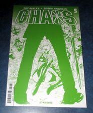 CHAOS #5 H RARE CHAOTIC GREEN variant 1st print DYNAMITE 2014 Purgatori