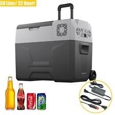 32 Quart Portable Refrigerator/Freezer Compact Vehicle Car Mini Fridge Electric