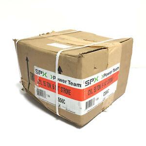"SPX Power Team C556C 55 Ton 6"" Stroke Single Acting Hydraulic Cylinder NEW"