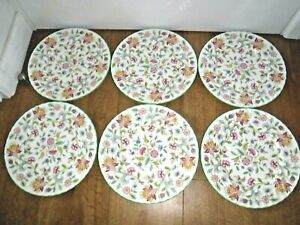 "Minton Haddon Hall Set Of 6 Dinner Plates ~ 10.5"" Diameter ~ 1st ~ Excellent"