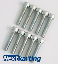 NUOVO M6 x 40 mm BULLONI x10 per Kart lato BACCELLI Ruota Dentata/Rotax Max X30 Cadet kart.