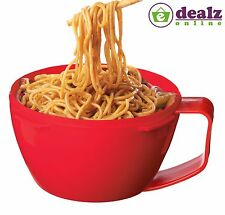 Sistema Microwave Noodle Bowl Lunch Box Round Plastic Container Handle 940ml