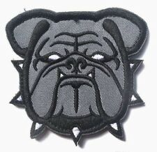 GREY BULLDOG Army Marine Mascot Tactical EMBROIDER Hook/Lp Morale 3D Patch