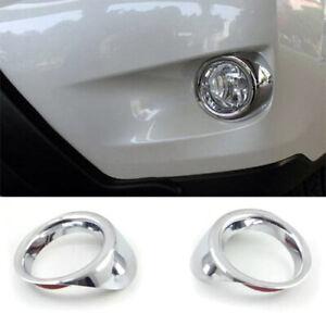 ABS Chrome Car Front Fog Light Lamp Cover Trim 2PCS Fit For Subaru XV 2012-2015