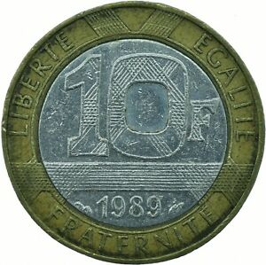 COIN / FRANCE / 10 FRANCS 1989   #WT23078