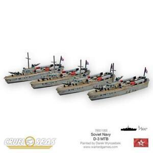 SOVIET D-3 MTB'S - CRUEL SEAS - WARLORD GAMES
