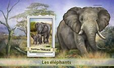 Togo 2017 MNH Elephants African Elephant 1v S/S Trees Wild Animals Stamps