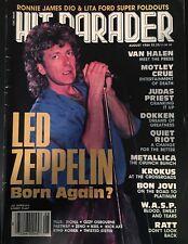 HIT PARADE MAGAZINE AUG 1986 LED ZEPPELIN MOTLEY CRUE DIO METALLICA WASP METAL