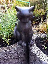Gartenfigur Katze mit Maus frostfest!!! Garfield H 21 cm getöpf.u.glas.
