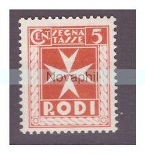 EGEO RODI  1934  -  SEGNATASSE   CENTESIMI 5   NUOVO **