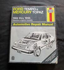 HAYNES 1984 THRU 1994 FORD TEMPO & MERCURY TOPAZ AUTOMOTIVE REPAIR MANUAL 36078
