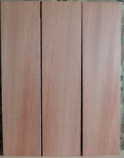 """3 Thin Bloodwood Boards-1/16"""" thick-lumber/wood/crafts/ veneer/inlay/scrollsaw"""